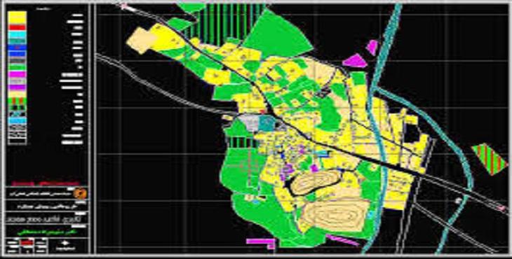 نقشه اتوکد شهرک صنعتی خیرآباد شهرستان اراک