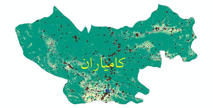 دانلود لایه جی ای اس و شیپ فایل های شهرستان کامیاران