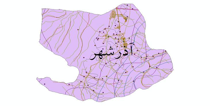 دانلود شیپ فایل های شهرستان آذرشهر