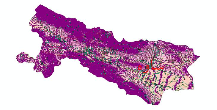 دانلود لایه جی ای اس و شیپ فایل های شهرستان ساوه
