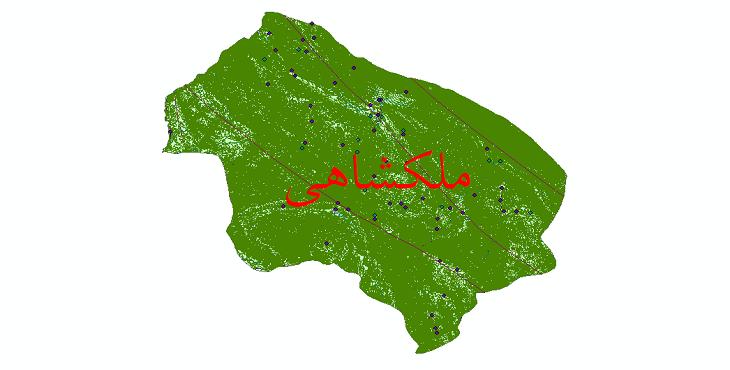 دانلود لایه جی ای اس و شیپ فایل های شهرستان ملکشاهی
