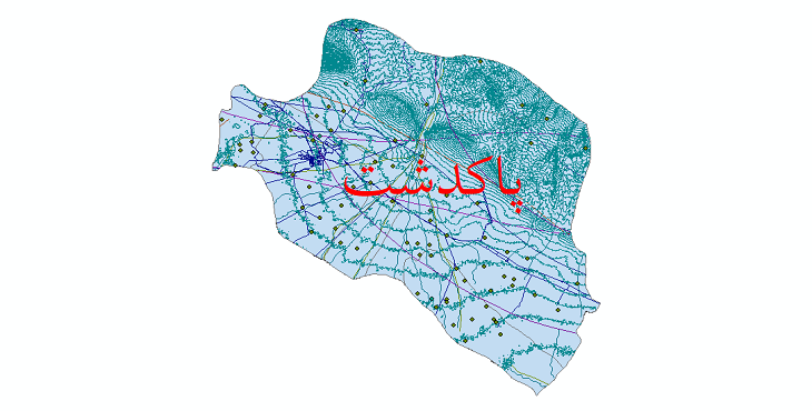 دانلود لایه جی ای اس و شیپ فایل های شهرستان پاکدشت