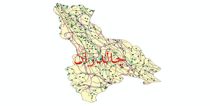 دانلود لایه جی ای اس و شیپ فایل های شهرستان چالدران