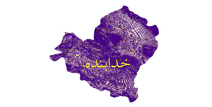 دانلود لایه جی ای اس و شیپ فایل های شهرستان خدابنده