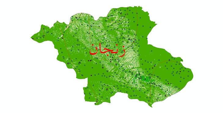 دانلود لایه جی ای اس و شیپ فایل های شهرستان زنجان