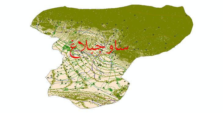 دانلود لایه جی ای اس و شیپ فایل های شهرستان ساوجبلاغ
