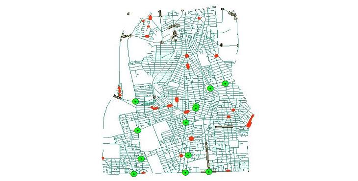 دانلود شیپ فایل کامل معابر، میادین، تقاطع ها و پل های منطقه شش شهر تهران