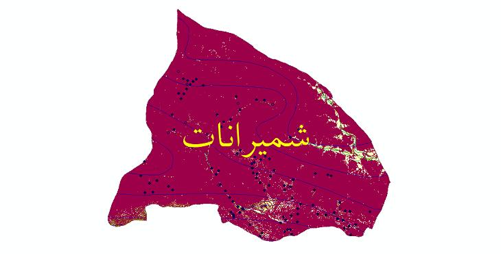دانلود لایه جی ای اس و شیپ فایل های شهرستان شمیرانات