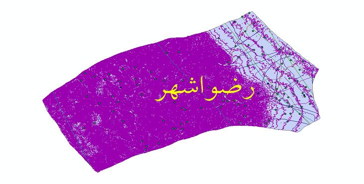 دانلود لایه جی ای اس و شیپ فایل های شهرستان رضوانشهر