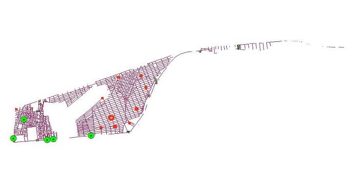 دانلود شیپ فایل کامل معابر، میادین، تقاطع ها و پل های منطقه سیزده شهر تهران