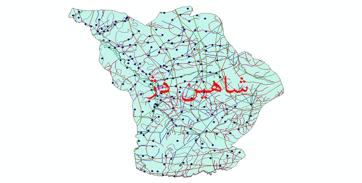 دانلود لایه جی ای اس و شیپ فایل های شهرستان شاهین دژ
