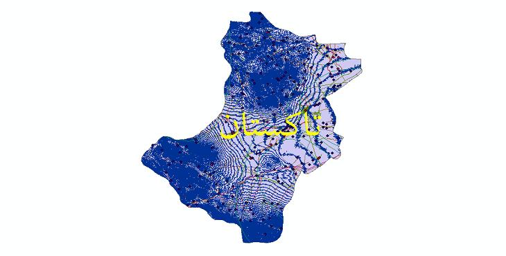 دانلود لایه جی ای اس و شیپ فایل های شهرستان تاکستان
