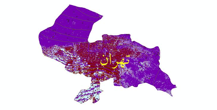دانلود لایه جی ای اس و شیپ فایل های شهرستان تهران