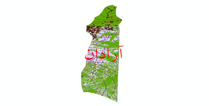 دانلود لایه جی ای اس و شیپ فایل های شهرستان آرادان
