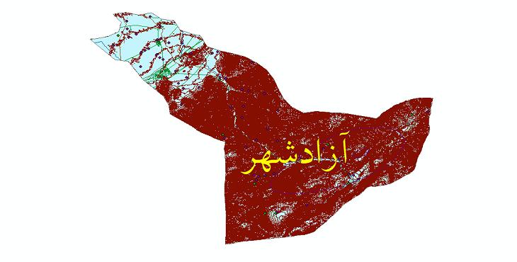 دانلود شیپ فایل های شهرستان آزادشهر