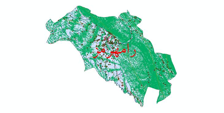 دانلود لایه جی ای اس و شیپ فایل های شهرستان رامهرمز
