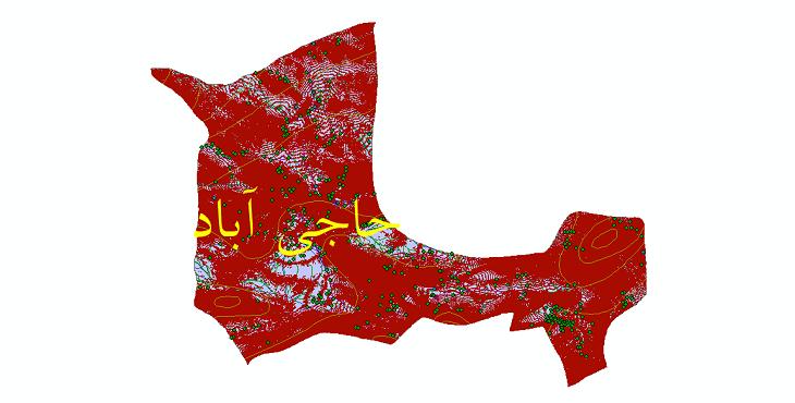 دانلود لایه جی ای اس و شیپ فایل های شهرستان حاجی آباد