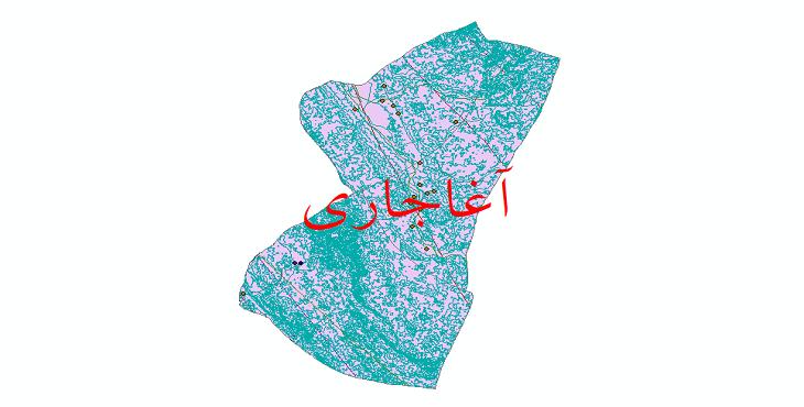 دانلود لایه جی ای اس و شیپ فایل های شهرستان آغاجاری