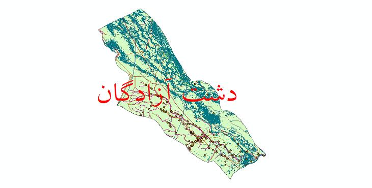 دانلود لایه جی ای اس و شیپ فایل های شهرستان دشت آزادگان