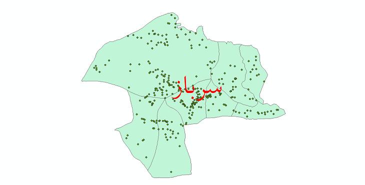 دانلود نقشه جی آی اس تقسیمات سیاسی شهرستان سرباز سال 1398