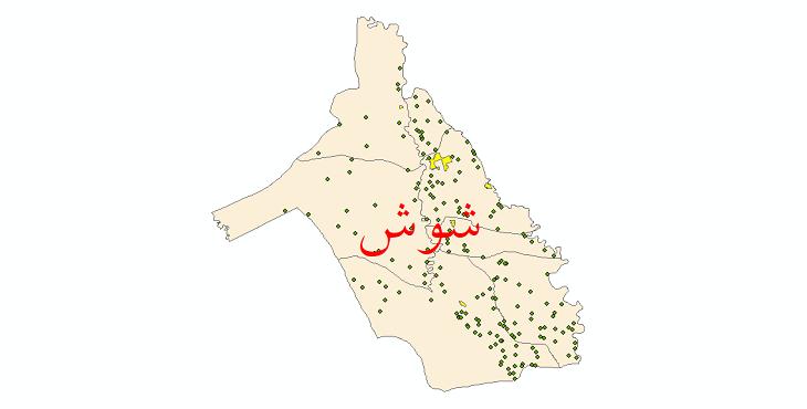 دانلود نقشه جی ای اس تقسیمات سیاسی شهرستان شوش سال 1398