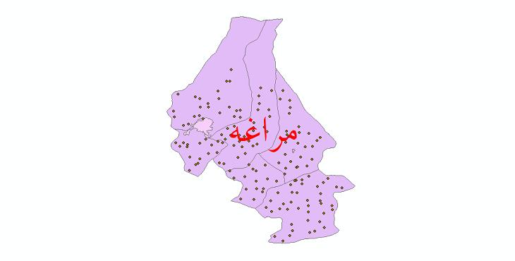 دانلود نقشه جی آی اس تقسیمات سیاسی شهرستان مراغه سال 1398