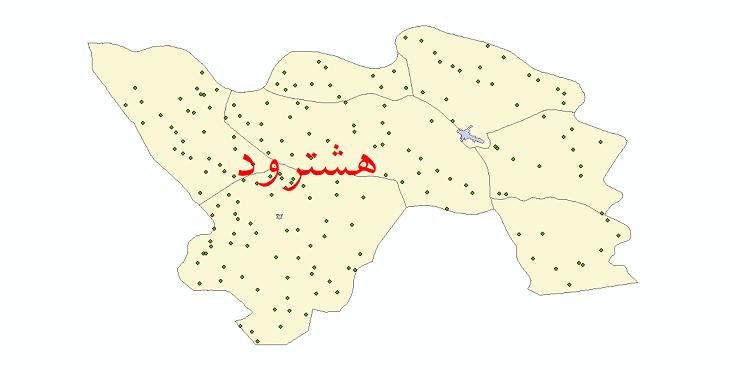 دانلود نقشه جی آی اس تقسیمات سیاسی شهرستان هشترود سال 1398