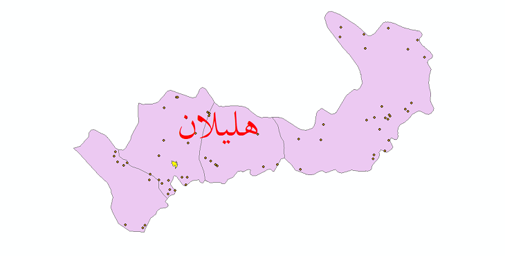 دانلود نقشه جی آی اس تقسیمات سیاسی شهرستان هلیلان سال 1398