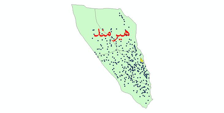 دانلود نقشه جی آی اس تقسیمات سیاسی شهرستان هیرمندسال 1398