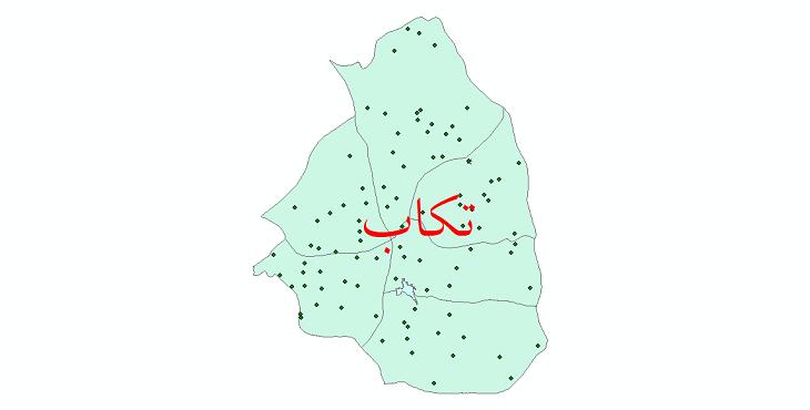 دانلود نقشه جی آی اس تقسیمات سیاسی شهرستان تکاب سال 1398