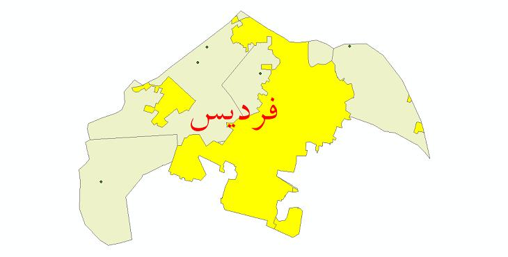 دانلود نقشه جی آی اس تقسیمات سیاسی شهرستان فردیس سال 1398