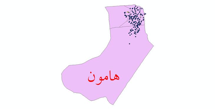 دانلود نقشه جی آی اس تقسیمات سیاسی شهرستان هامون سال 1398