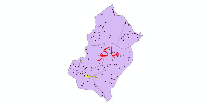 دانلود نقشه جی آی اس تقسیمات سیاسی شهرستان ماکو سال 1398