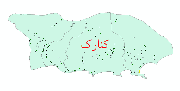 دانلود نقشه جی آی اس تقسیمات سیاسی شهرستان کنارک سال 1398