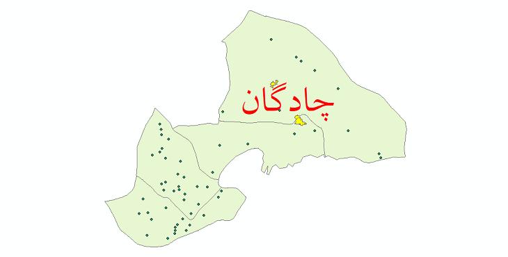 دانلود نقشه جی ای اس تقسیمات سیاسی شهرستان چادگان سال 1398