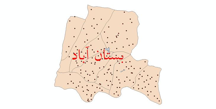 دانلود نقشه جی آی اس تقسیمات سیاسی شهرستان بستان آباد سال 1398