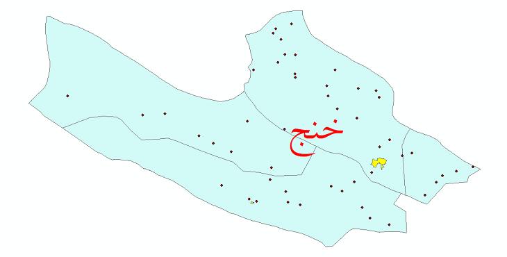 دانلود نقشه جی ای اس تقسیمات سیاسی شهرستان خنج سال 1398