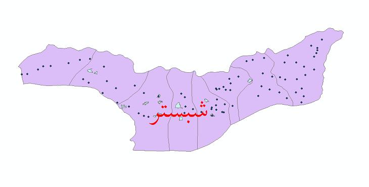 دانلود نقشه جی آی اس تقسیمات سیاسی شهرستان شبستر سال 1398