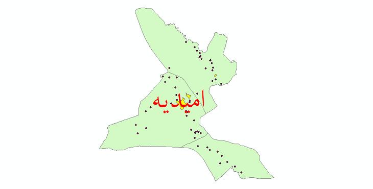 دانلود نقشه جی ای اس تقسیمات سیاسی شهرستان امیدیه سال 1398