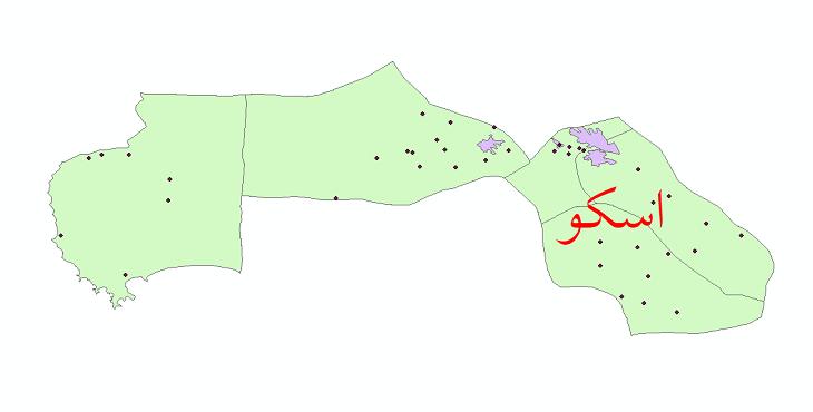 دانلود نقشه جی آی اس تقسیمات سیاسی شهرستان اهر سال 1398
