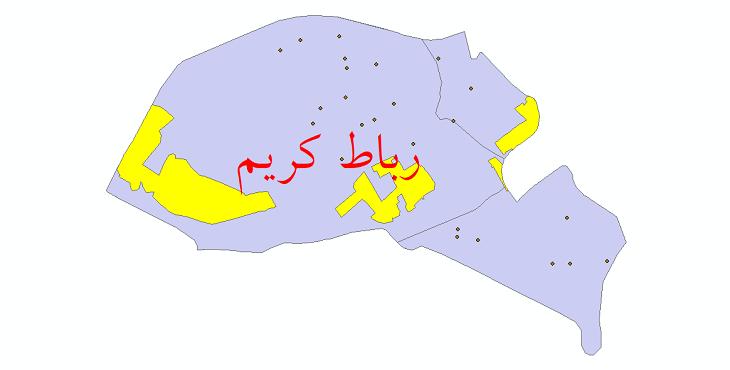 دانلود نقشه جی آی اس تقسیمات سیاسی شهرستان رباط کریم سال 1398