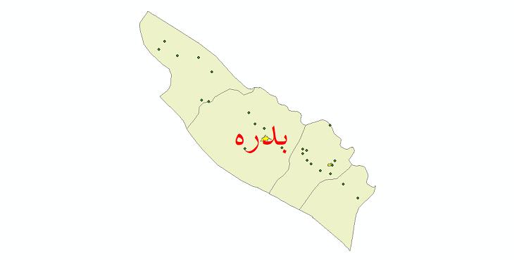 دانلود نقشه جی آی اس تقسیمات سیاسی شهرستان بدره سال 1398