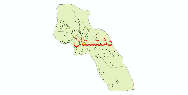 دانلود نقشه جی آی اس تقسیمات سیاسی شهرستان دشتستان سال 1398