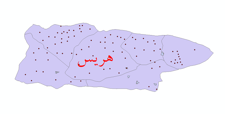 دانلود نقشه جی آی اس تقسیمات سیاسی شهرستان هریس سال 1398