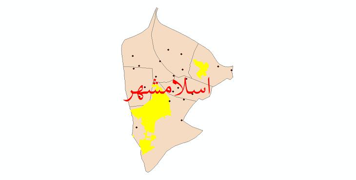 دانلود نقشه جی آی اس تقسیمات سیاسی شهرستان اسلامشهر سال 1398