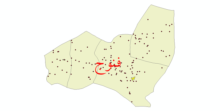 دانلود نقشه جی آی اس تقسیمات سیاسی شهرستان فنوج سال 1398