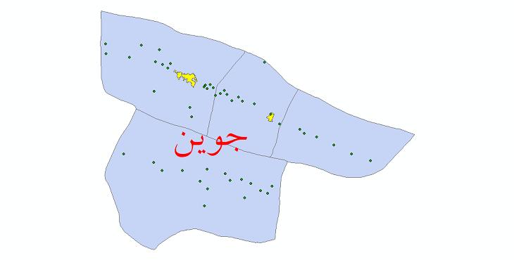 دانلود نقشه جی ای اس تقسیمات سیاسی شهرستان جوین سال 1398