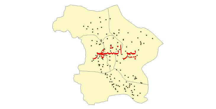 دانلود نقشه جی آی اس تقسیمات سیاسی شهرستان پیرانشهر سال 1398