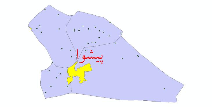 دانلود نقشه جی آی اس تقسیمات سیاسی شهرستان پیشوا سال 1398