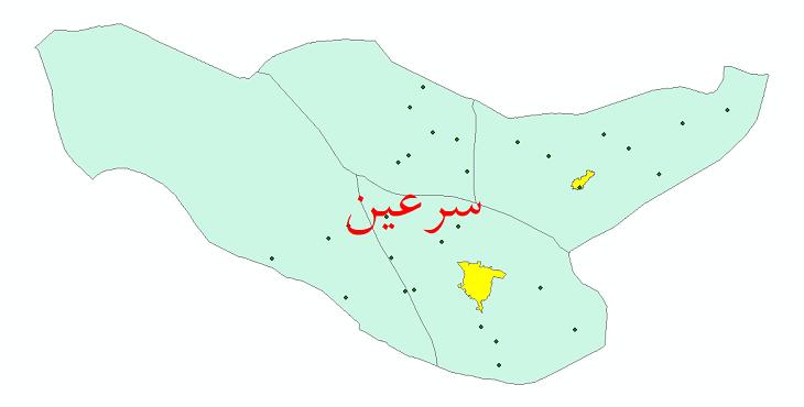 دانلود نقشه جی آی اس تقسیمات سیاسی شهرستان سرعین سال 1398